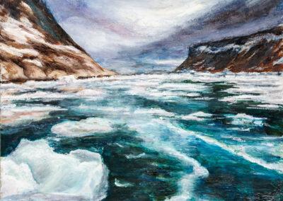 Gletschereis im Fjord