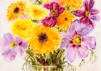 Ringelblumen und Cosmea