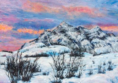 Wintersonne auf den Lofoten