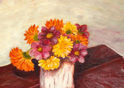 Cosmea und Ringelblumen Nr. 3